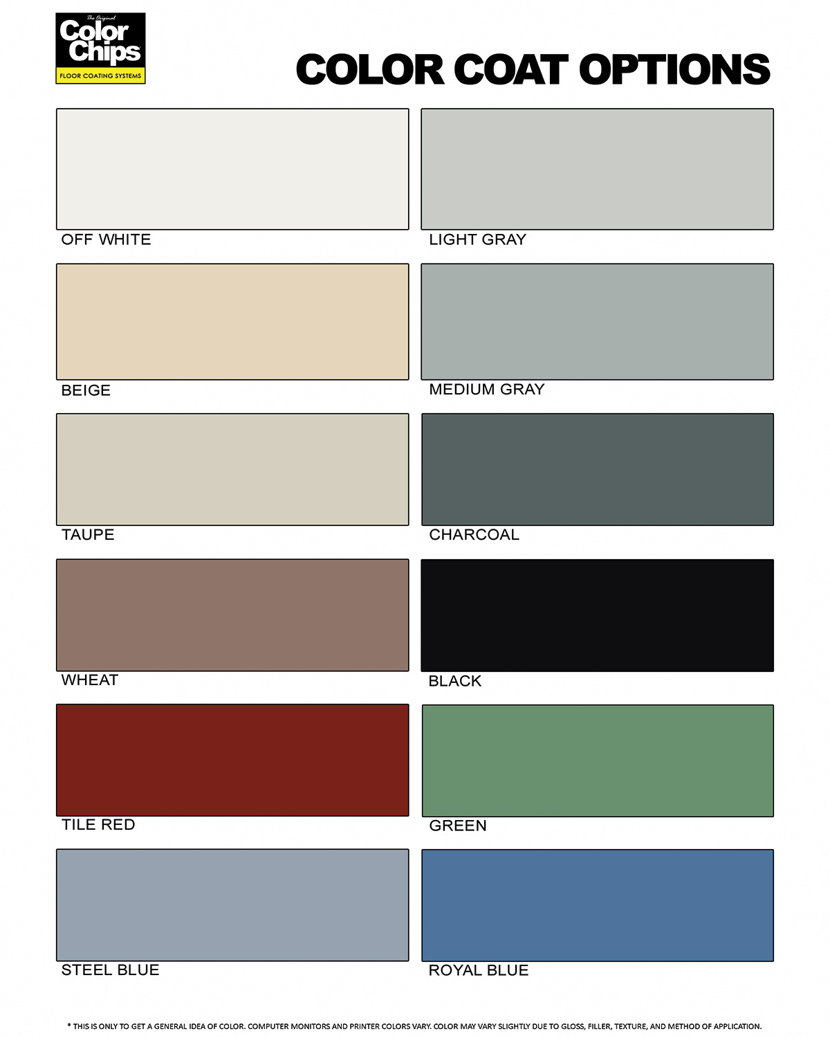 Norklad 200 - 100% Solids - Color Chart