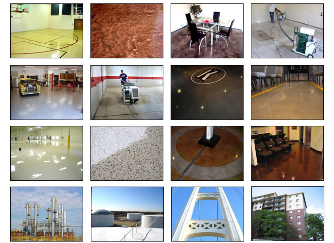 Floor & Wall Coating Examples