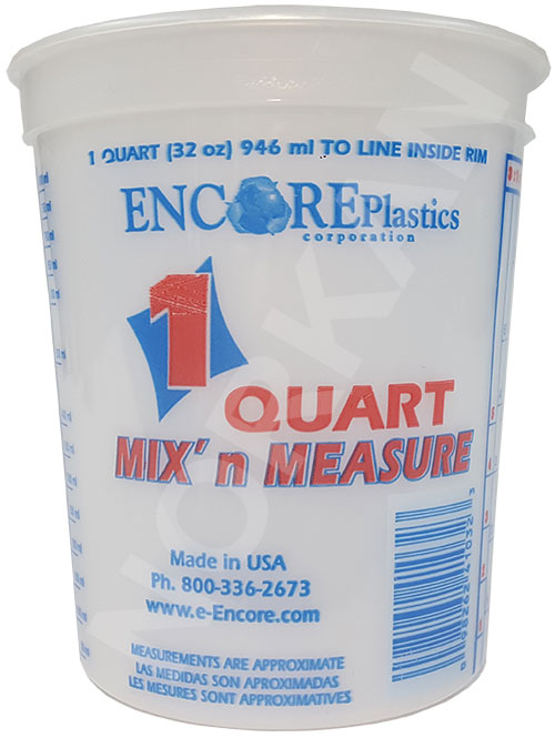 Encore 1 Qt Mixing Bucket W/Graduations