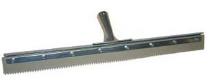 "Brushman 24"" Non-Marking Notched Edge Squeegee"