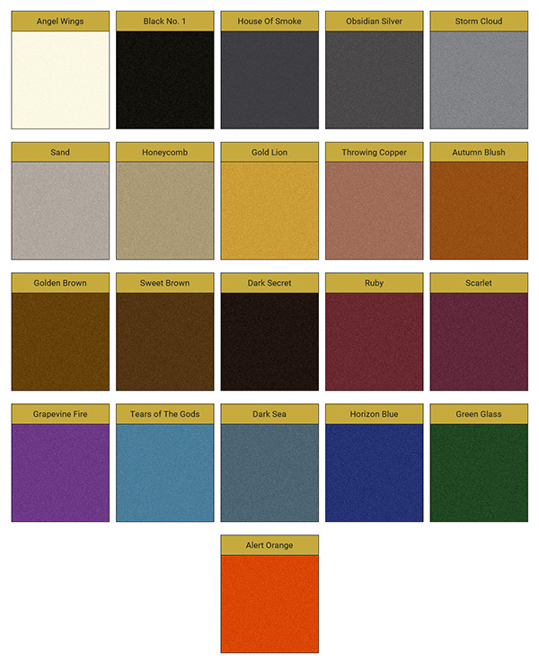 Pure Metallic Color Chart