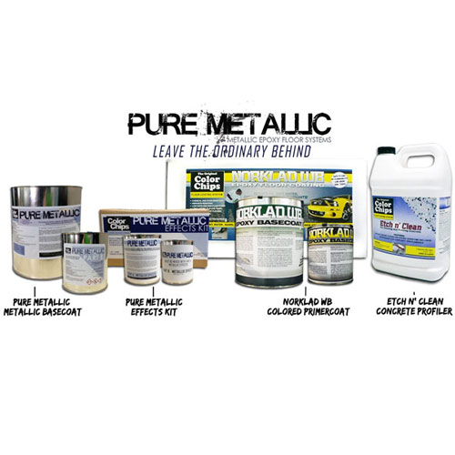 Pure Metallic Epoxy Floor Kit Garage Paint Custom