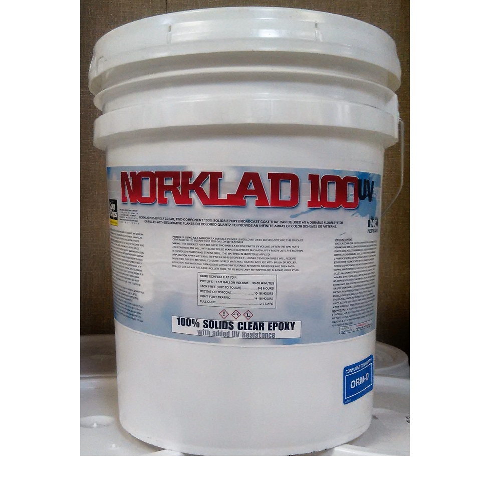 Norklad 100 UV 100% Solids UV Epoxy - 150+ sq/ft